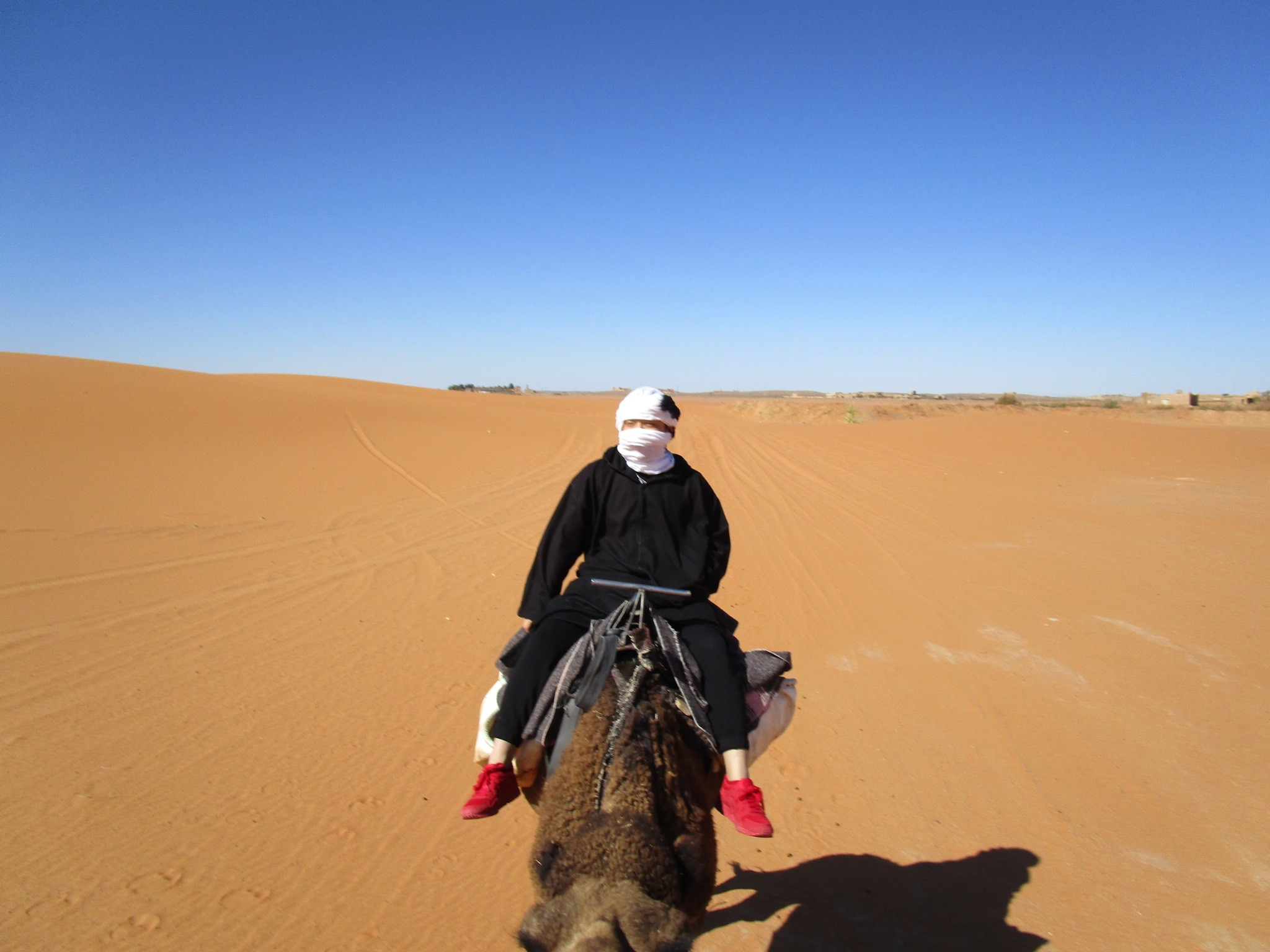 riding on camel